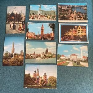 Postcards 8 vintage postcards London international